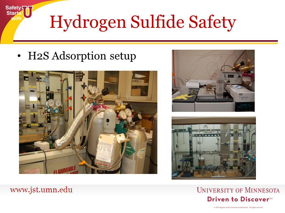 www.jst.umn.edu H2S Adsorption setup Hydrogen Sulfide Safety