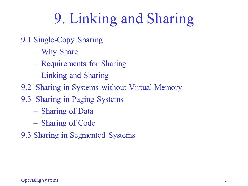 Operating Systems12 Dynamic Linking/Sharing Before and After External Reference is Executed