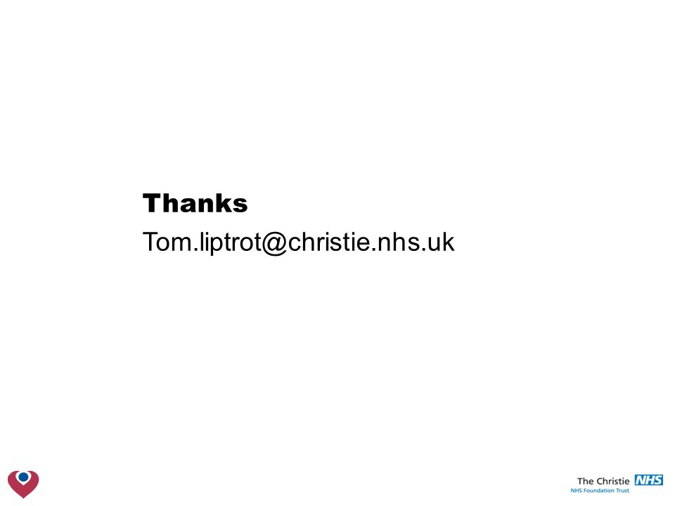 Thanks Tom.liptrot@christie.nhs.uk