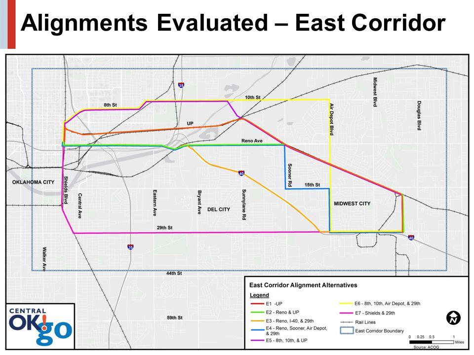 Alignments Evaluated – East Corridor 18