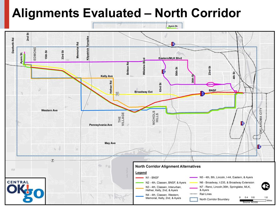 Alignments Evaluated – North Corridor 22