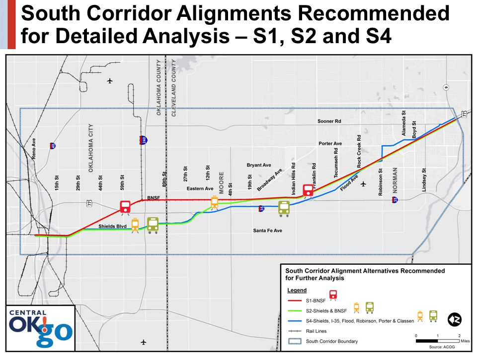 30 South Corridor Alignments Recommended for Detailed Analysis – S1, S2 and S4