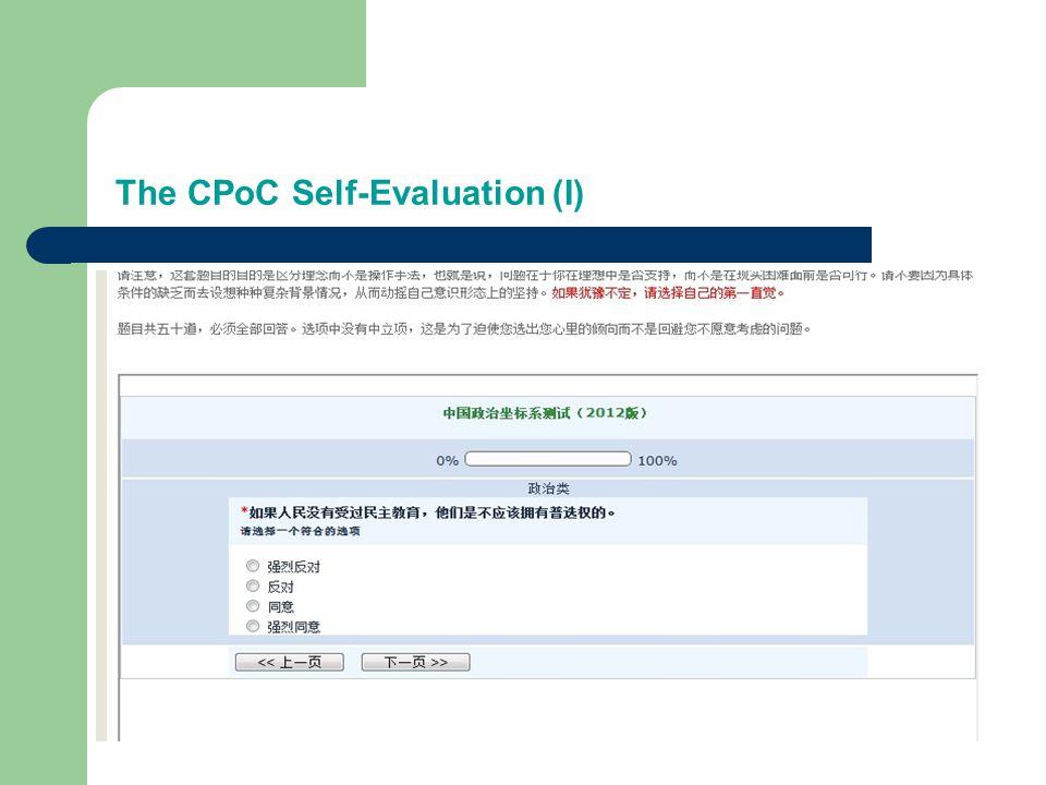 The CPoC Self-Evaluation (I)
