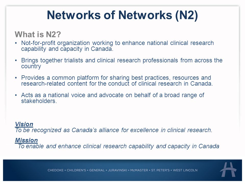 Networks of Networks (N2) What is N2.