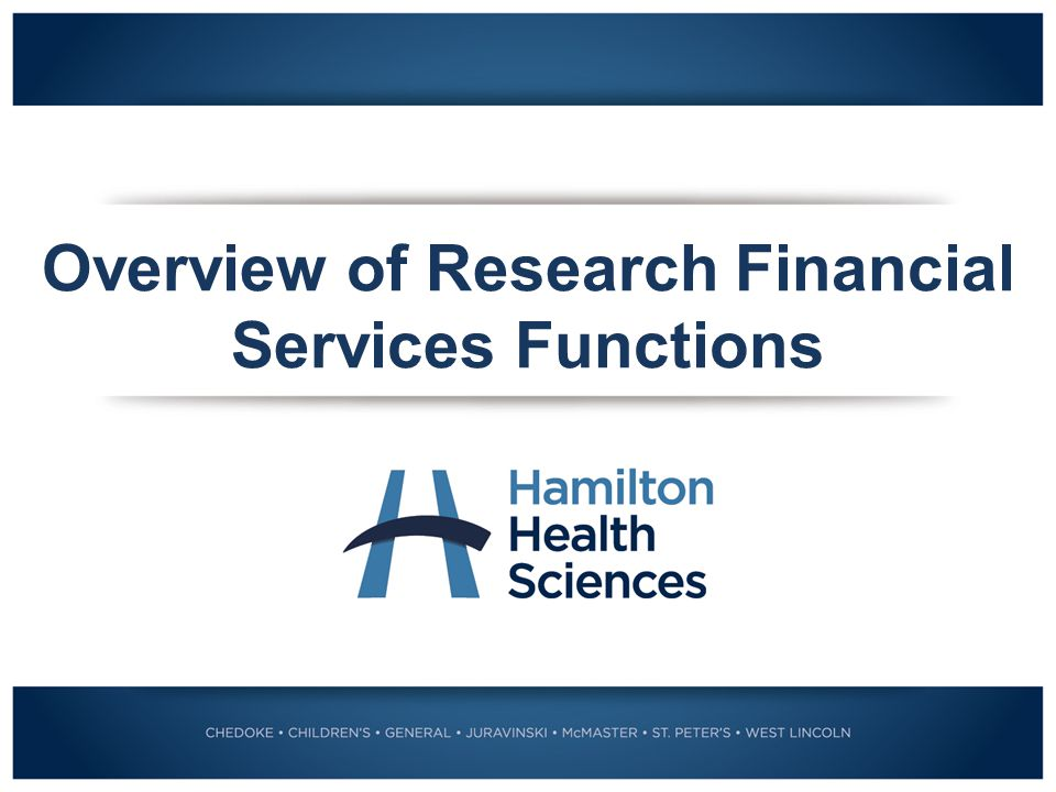 Overview of Research Financial Services Functions