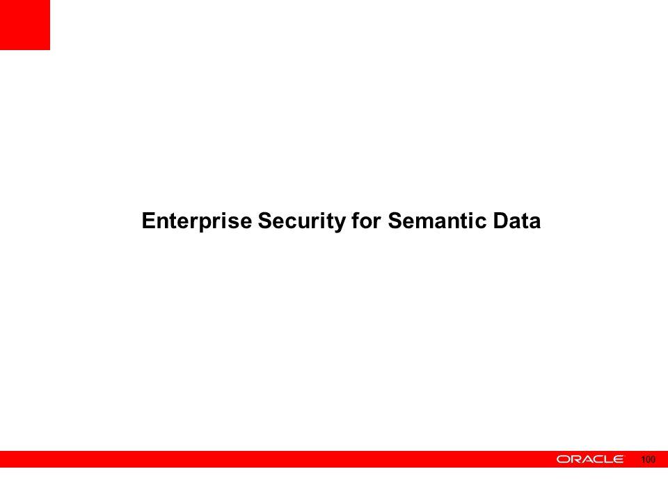 Enterprise Security for Semantic Data 100