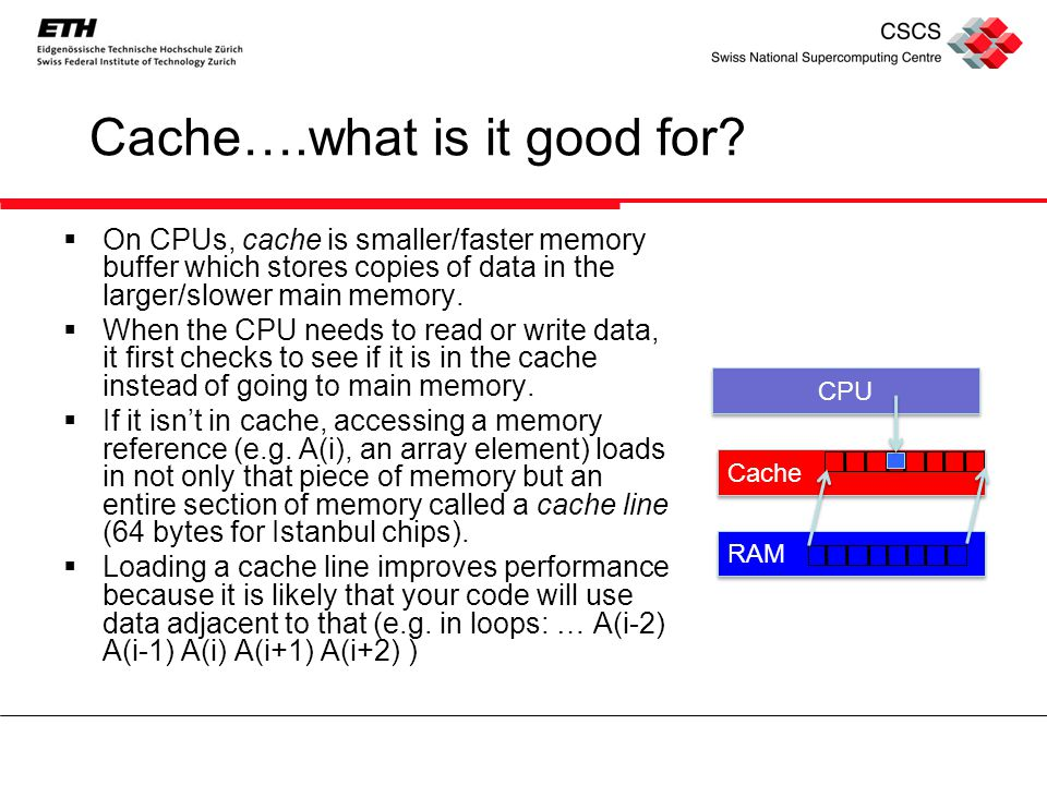 Cache….what is it good for.