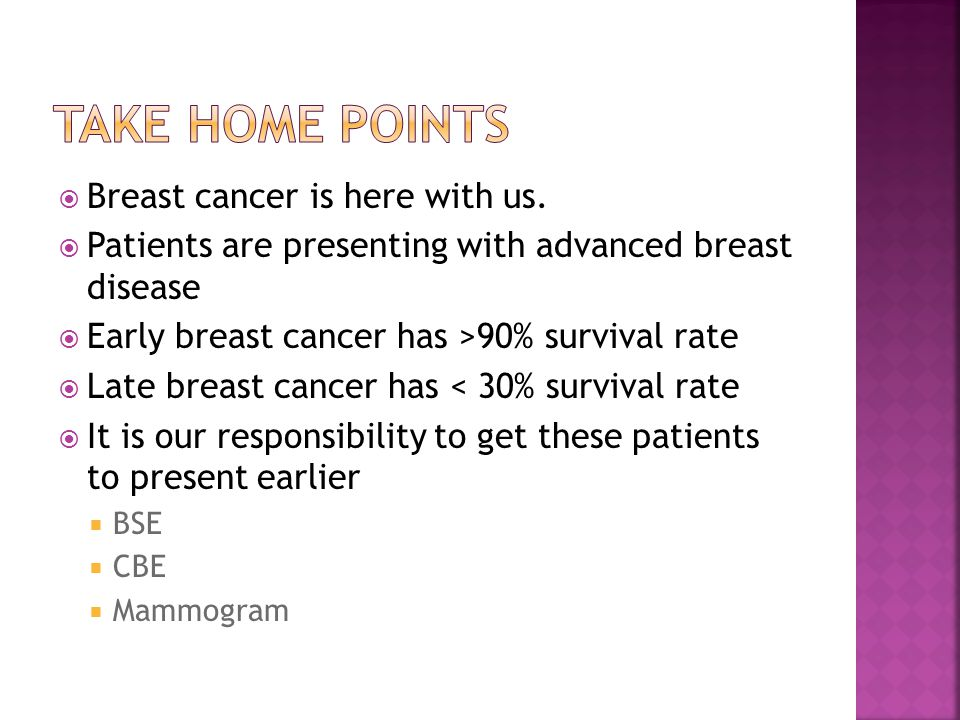  Breast cancer is here with us.