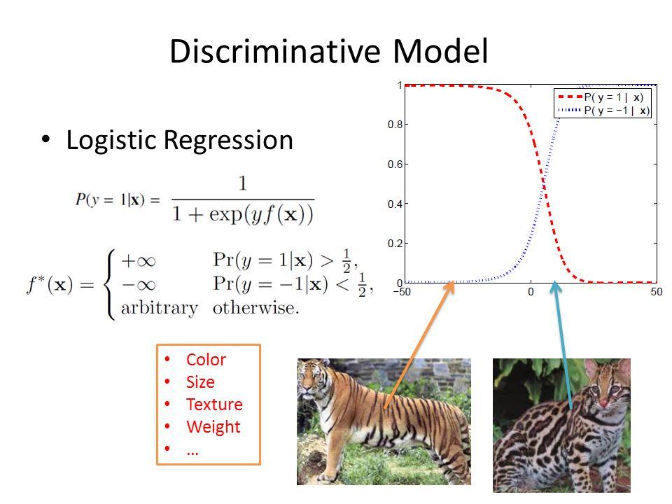 Discriminative Model Logistic Regression Color Size Texture Weight …