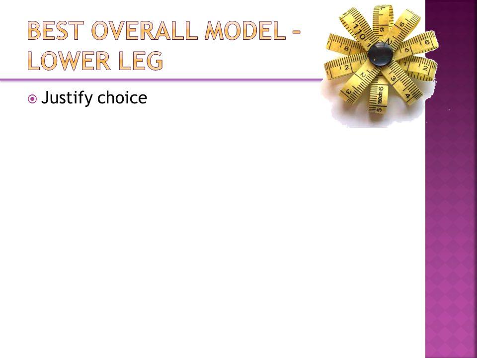  Justify choice