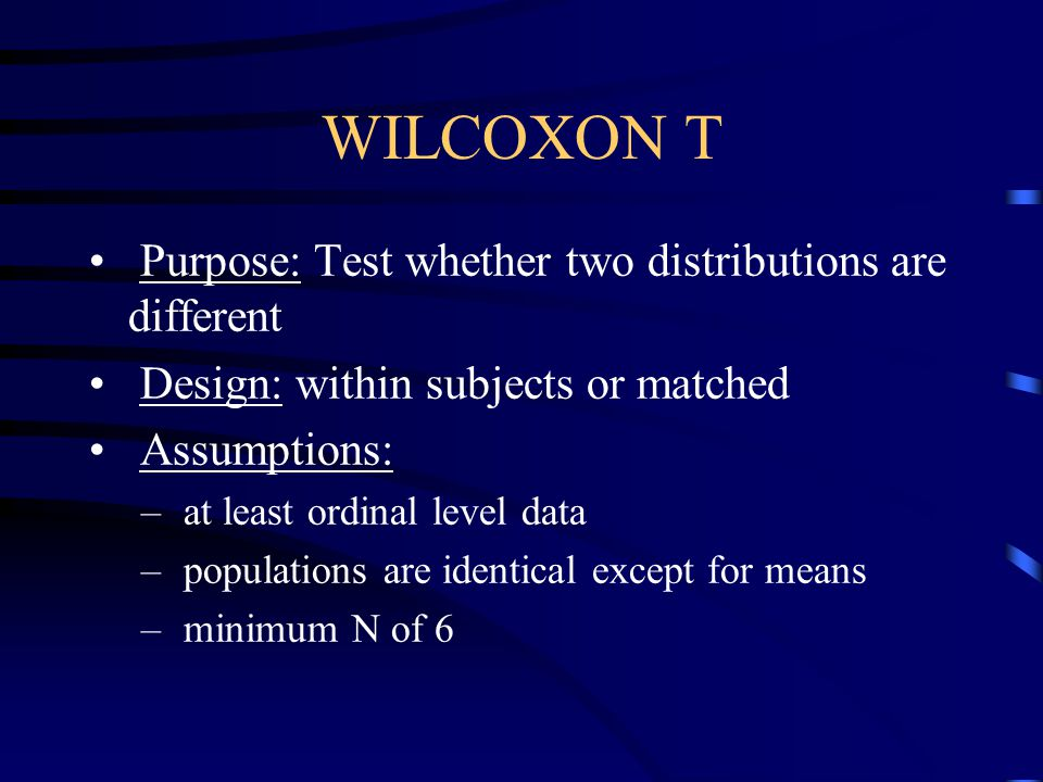 APA Format Sentence A Wilcoxon Rank-Sum test showed that the Ritalin and Counseling groups were not significantly different, W (n 1 = 4, n 2 = 4) = 16.50, p >.05.