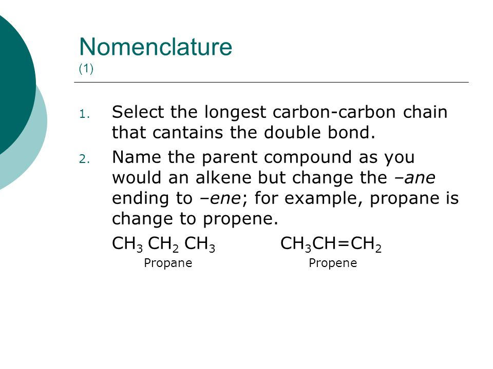 The name of some common alkynes : _________________________________________________ MolecularStructuralCommon IUPAC Formulaformulaname name _________________________________________________ C 2 H 2 H-C≡C-HAcetylene Ethyne C 3 H 4 CH 3 -C≡C-HMethylacetylene Propyne C 4 H 6 CH 3 CH 2 -C≡C-HEthylacetylene 1-Butyne C 4 H 6 CH 3 -C≡C-CH 3 Dimethylacetylene2-Butyne
