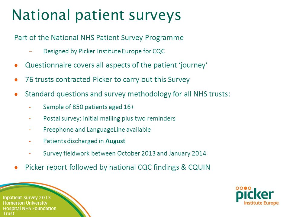 Inpatient Survey 2013 Homerton University Hospital NHS Foundation Trust Care and Treatments: By Specialty