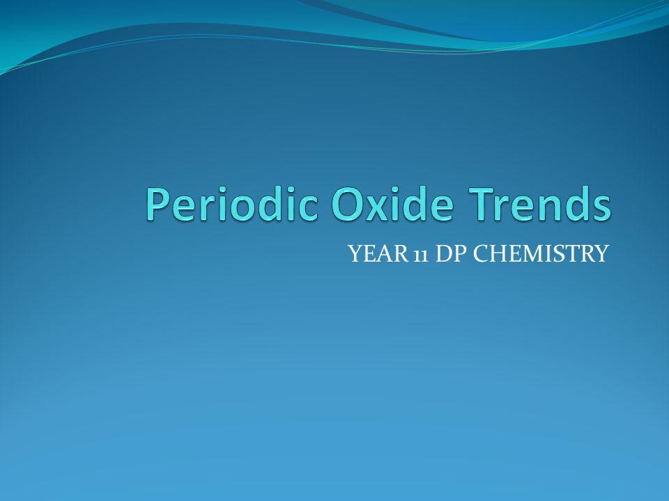 YEAR 11 DP CHEMISTRY