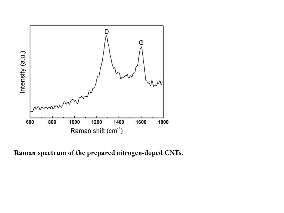 Raman spectrum of the prepared nitrogen-doped CNTs.