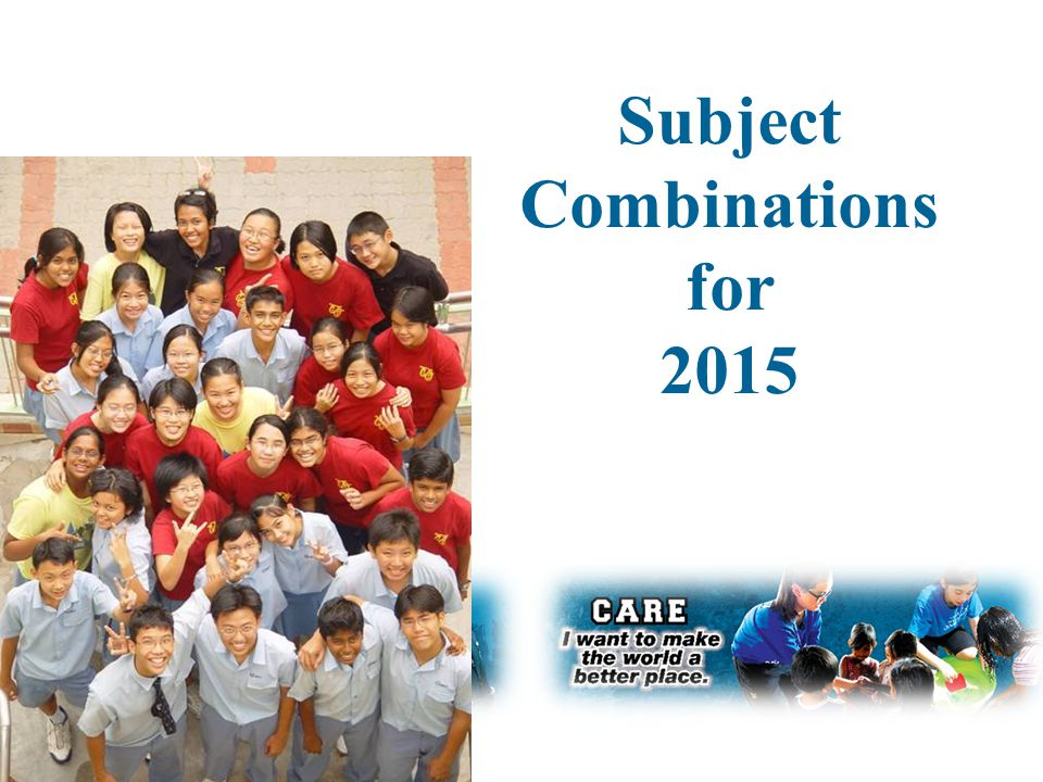 Subject Combinations for 2015