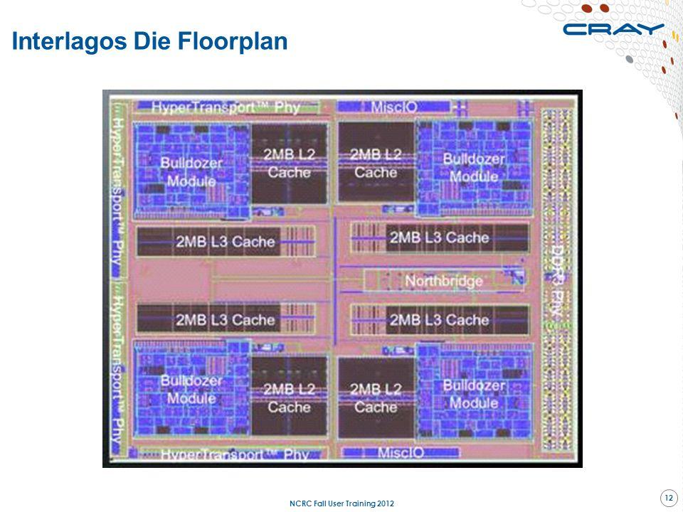 Interlagos Die Floorplan NCRC Fall User Training 2012 12