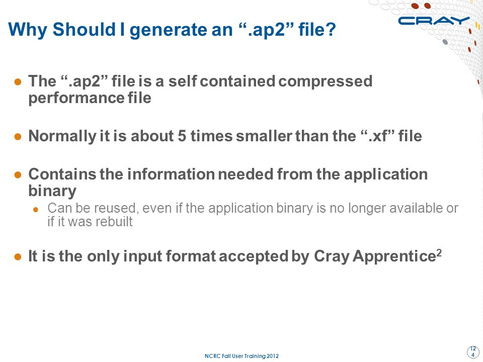 """Why Should I generate an """".ap2"""" file? ●The """".ap2"""" file is a self contained compressed performance file ●Normally it is about 5 times smaller than the"""