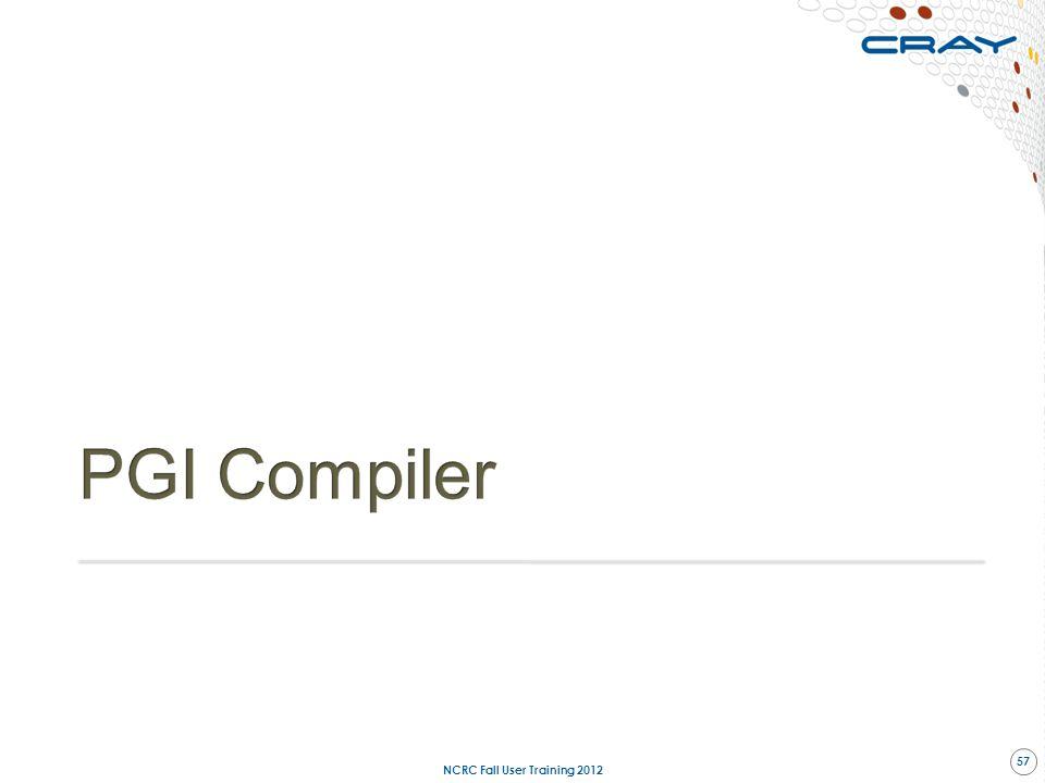 NCRC Fall User Training 2012 57