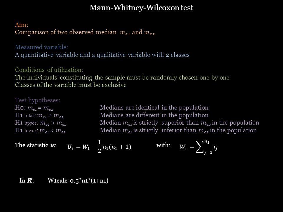 In R:W1calc-0.5*n1*(1+n1)