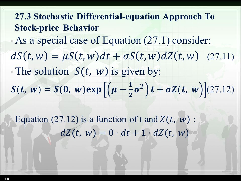 27.3 Stochastic Differential-equation Approach To Stock-price Behavior 10