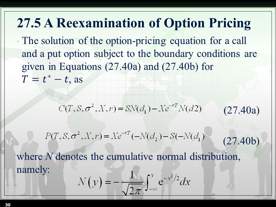 30 27.5 A Reexamination of Option Pricing