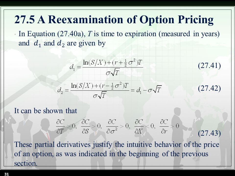 31 27.5 A Reexamination of Option Pricing