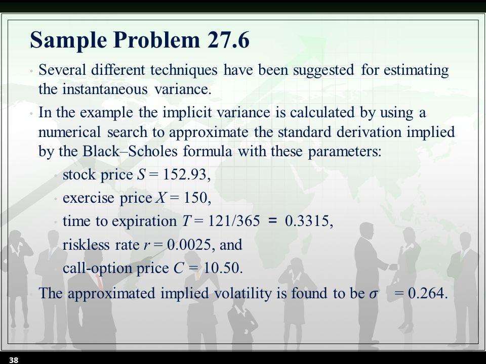 38 Sample Problem 27.6