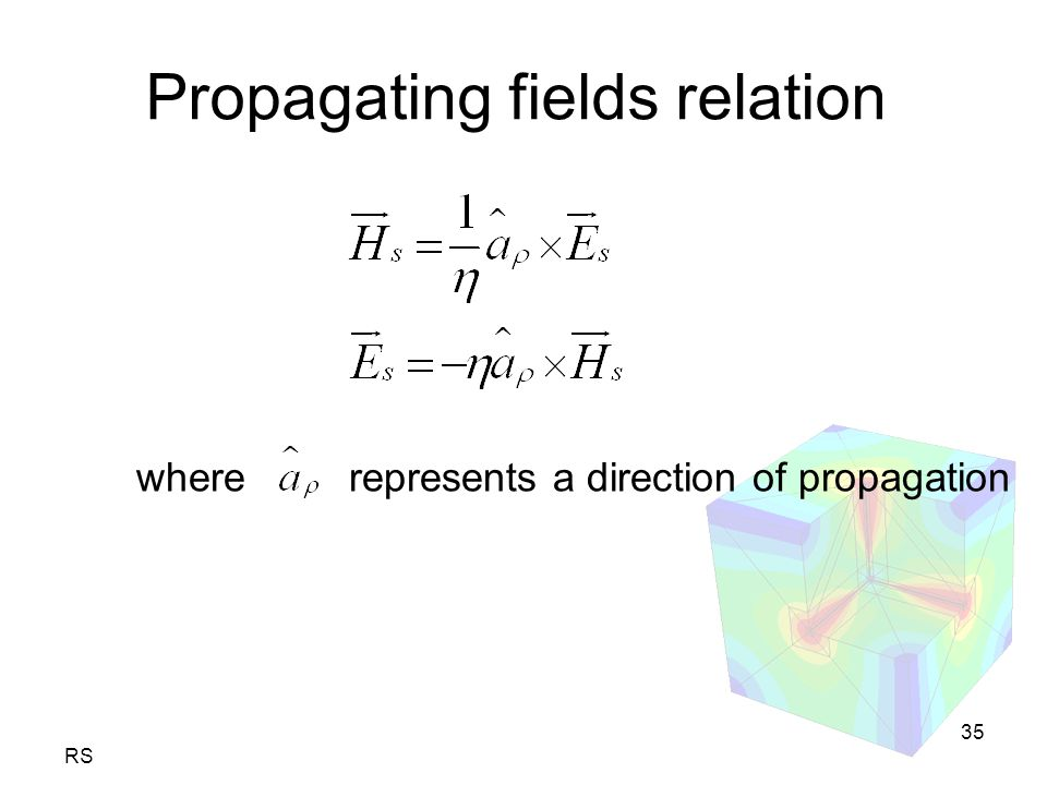 RS 35 Propagating fields relation where represents a direction of propagation