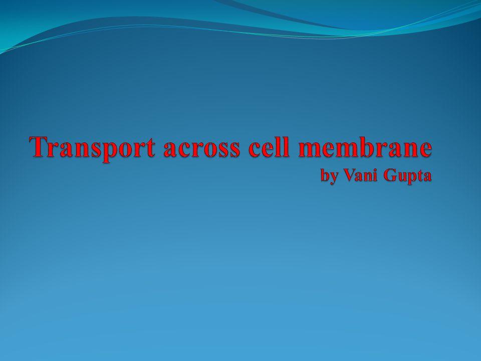 Membrane Transport Proteins 1.