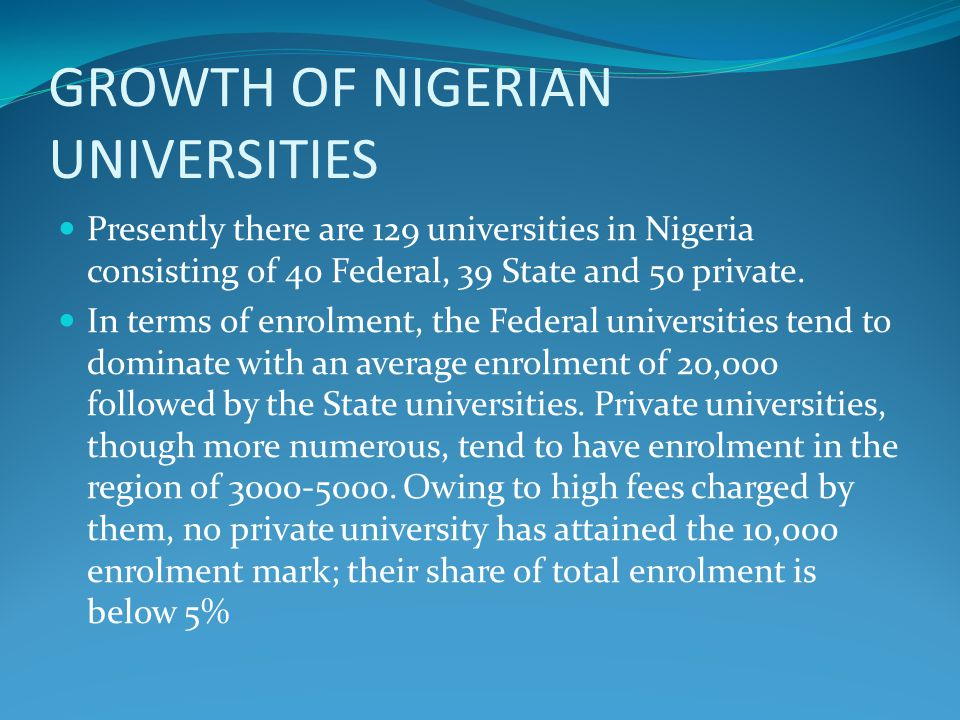 FUNDING CHALLENGES IN TERIARY INSTITUTIONS-2 Owing to out-dated Government policies, universities are often restrained from exploring legitimate options to improve their revenue base and decrease their dependence on the public treasury Internally generated revenue also tends to form only an insignificant proportion of the total income of the institutions.