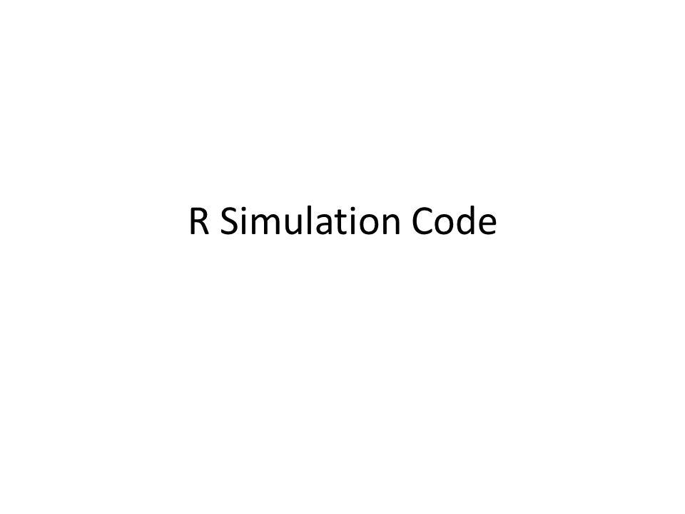 R Simulation Code