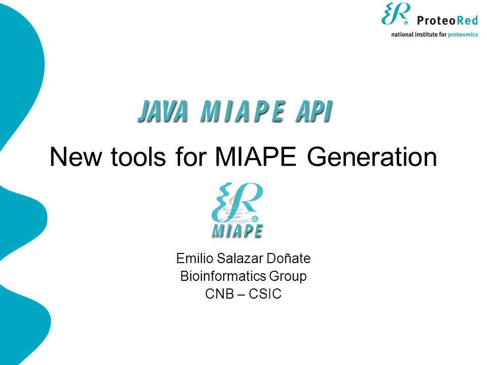 Java MIAPE API API Architecture: