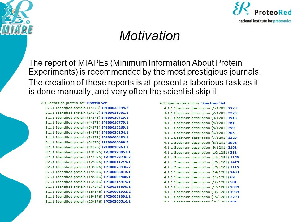 Java MIAPE API Fully tested and documented