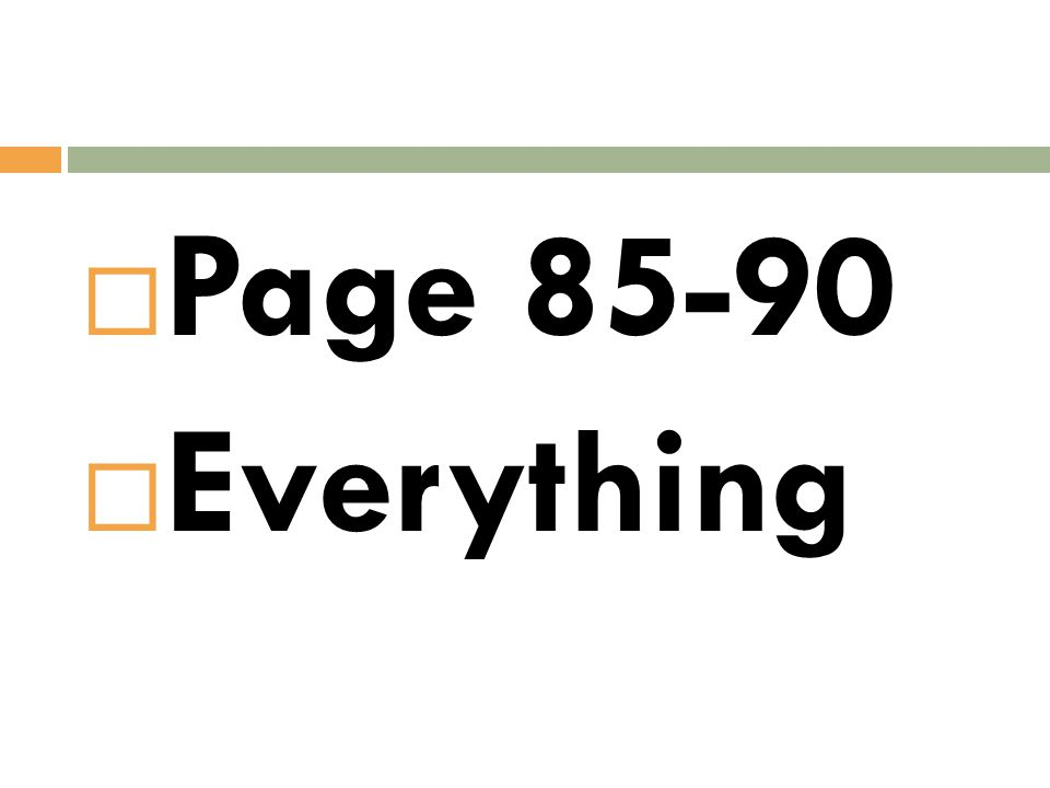  Page 85-90  Everything