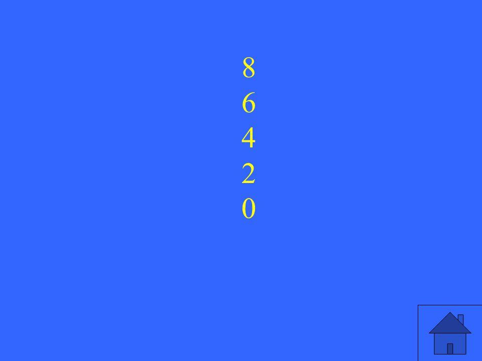 5 8642086420
