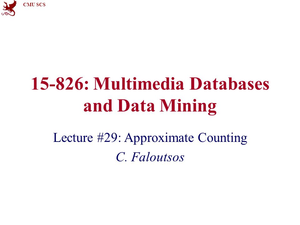 CMU SCS Must-read material Christopher Palmer, Phillip B.