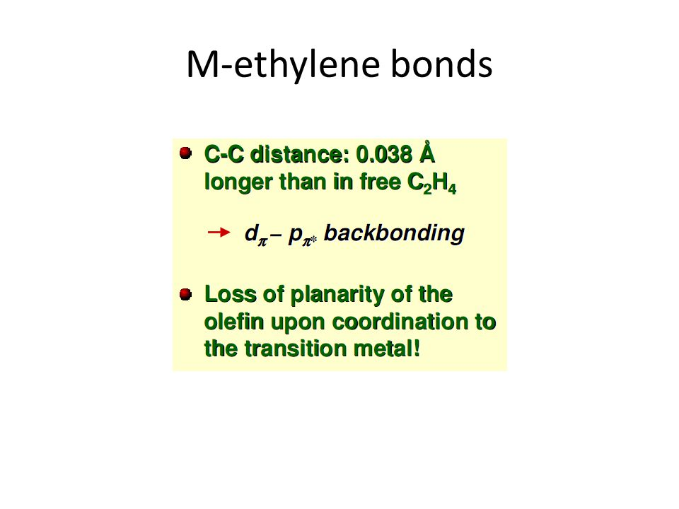 M-ethylene bonds