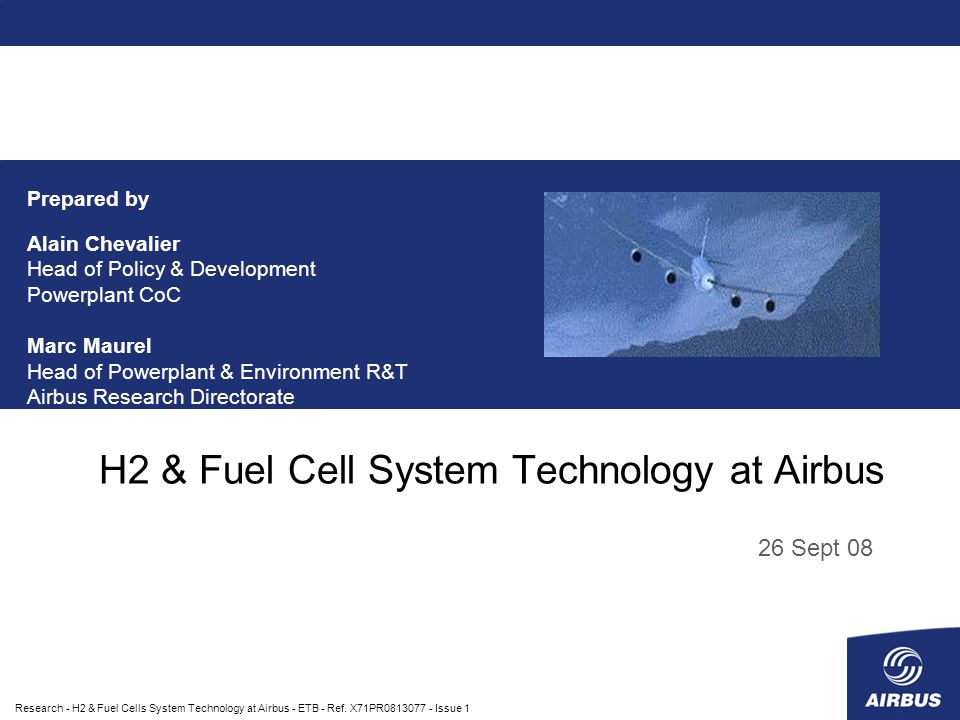 Research - H2 & Fuel Cells System Technology at Airbus - ETB - Ref.