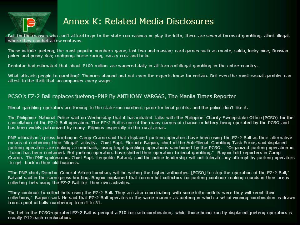 Annex K: Related Media Disclosures