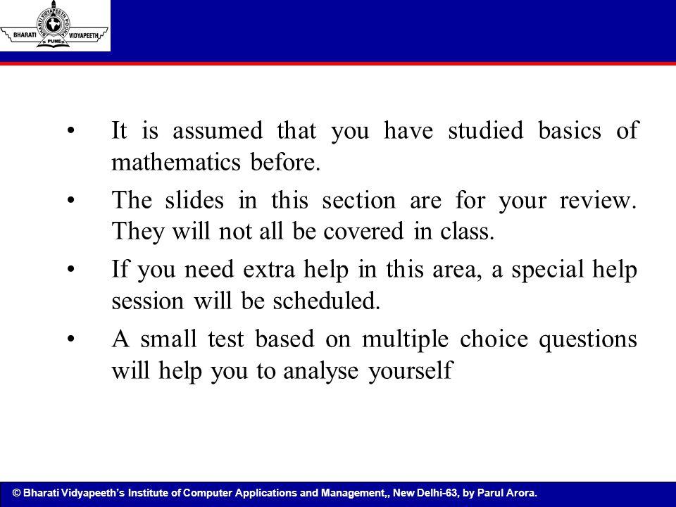 © Bharati Vidyapeeth's Institute of Computer Applications and Management, New Delhi-63, by Parul arora Logic & Boolean Algebra