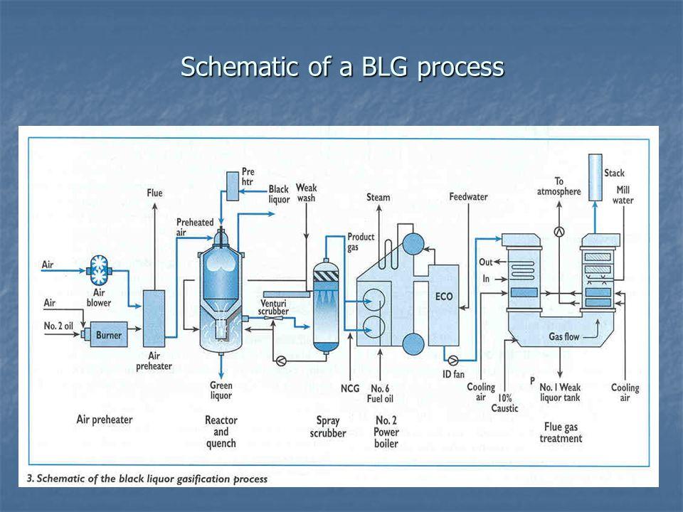 Schematic of a BLG process
