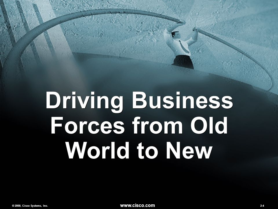 © 2000, Cisco Systems, Inc. www.cisco.com 2-4 Driving Business Forces from Old World to New