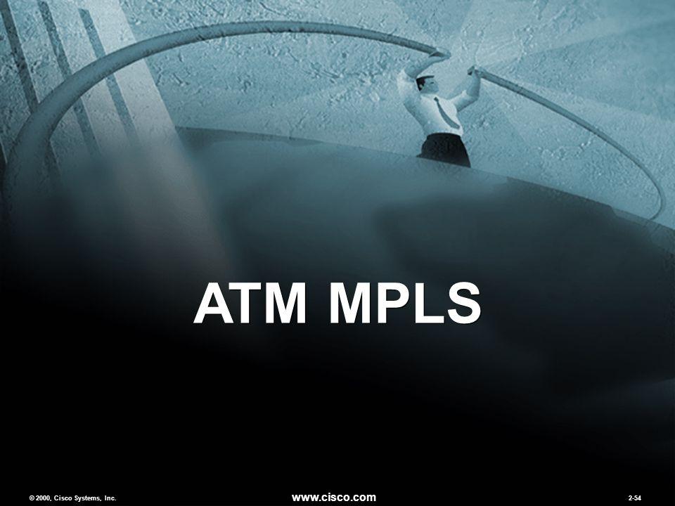 © 2000, Cisco Systems, Inc. www.cisco.com 2-54 ATM MPLS