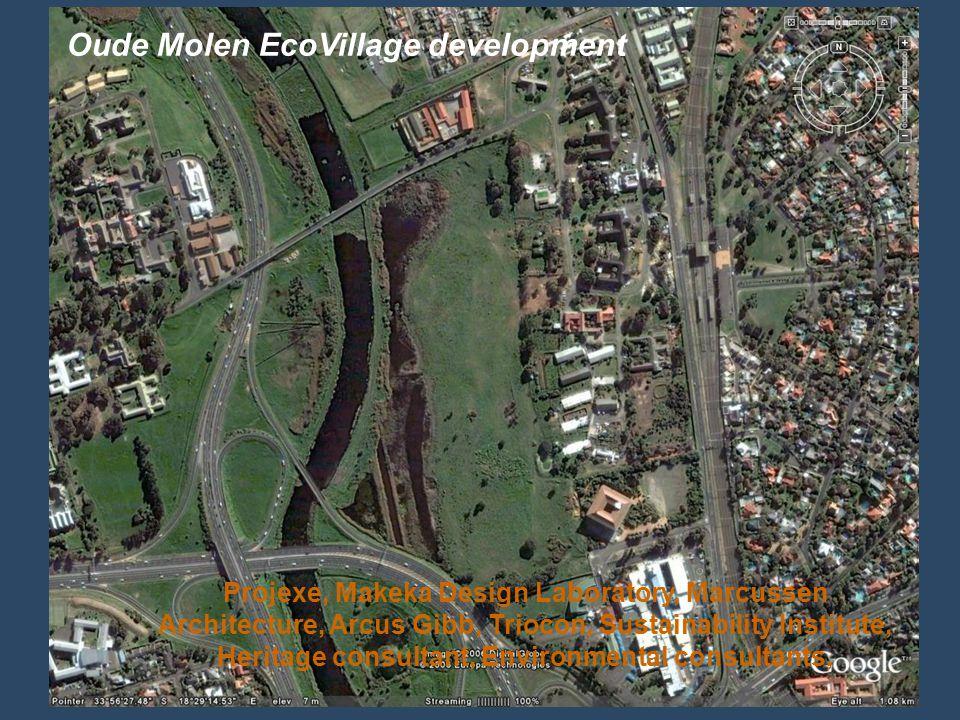 Oude Molen EcoVillage development Projexe, Makeka Design Laboratory, Marcussen Architecture, Arcus Gibb, Triocon, Sustainability Institute, Heritage c