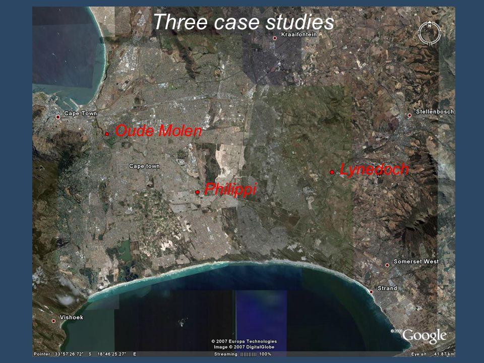 Oude Molen Philippi Lynedoch Three case studies