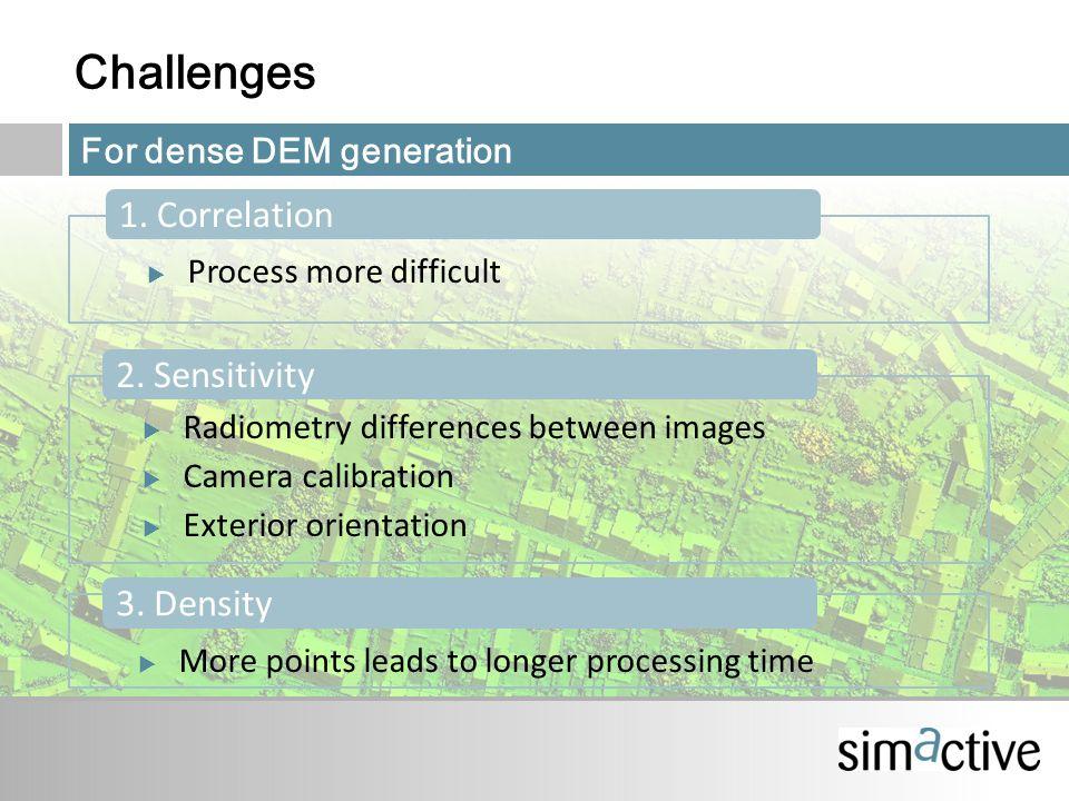 Challenges 1. Correlation 2. Sensitivity 3.