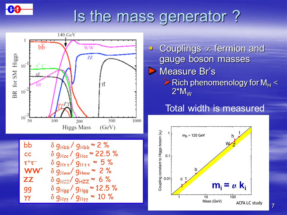 7 Is the mass generator .