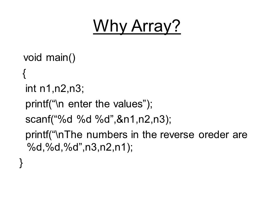 Why Array.