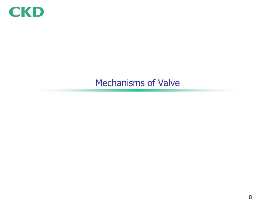 8 Mechanisms of Valve